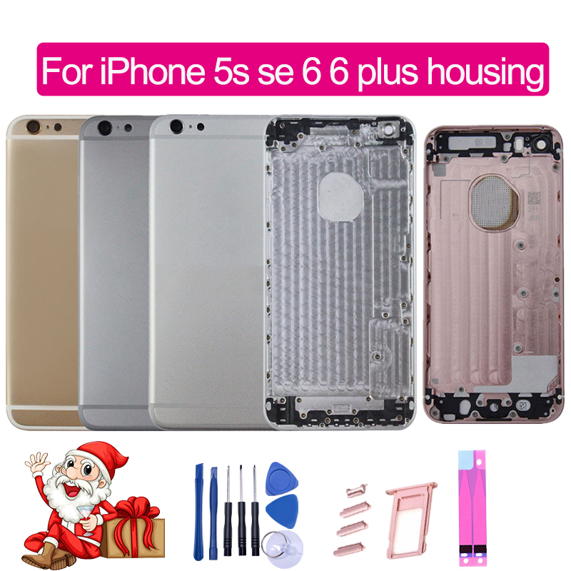 Back-Housing iPhone Chassis-Replacement Back-Battery-Cover for 6 6-Plus Gold Grey Silver