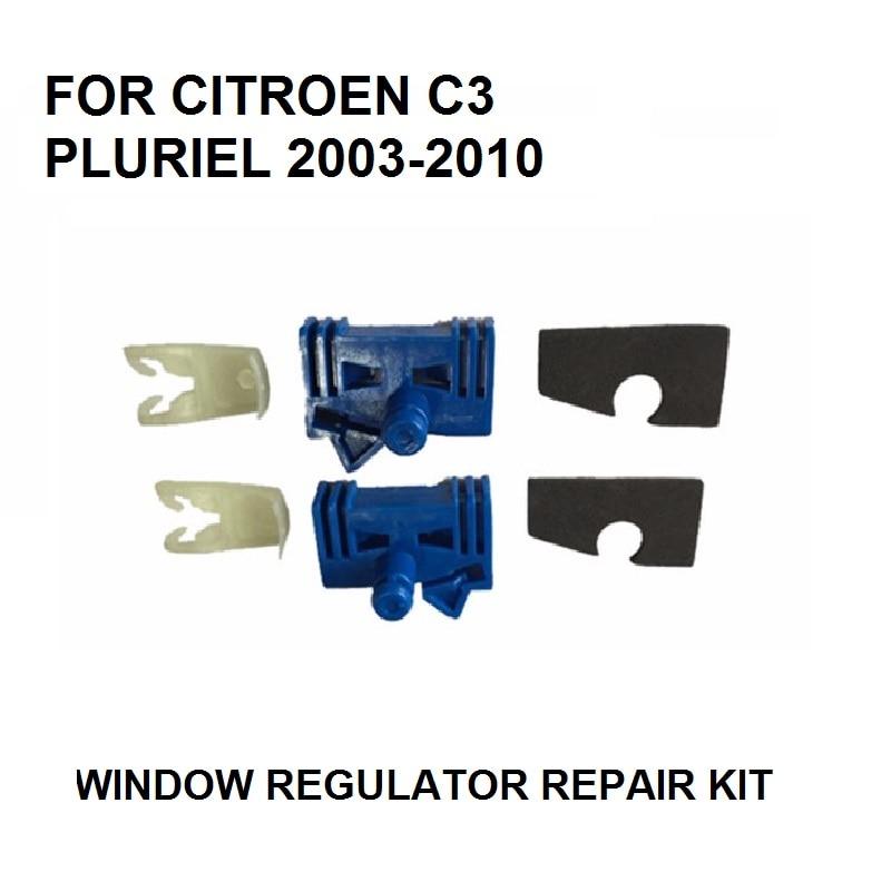 CAR PARTS FOR CITROEN C3 PLURIEL WINDOW REGULATOR REPAIR KIT 2/3 - DOOR FRONT LEFT AND RIGHT 2003-2010 NEW