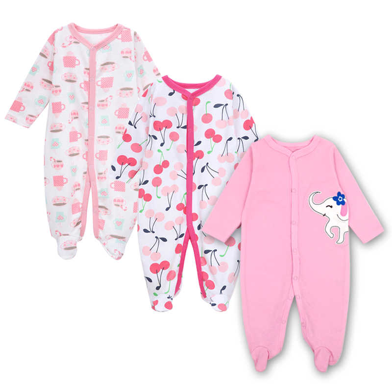 Baby clothes Newborn toddler infant footed romper long sleeve jumpsuit sleep play 3 6 9 12 months cotton baby boy girls clothing