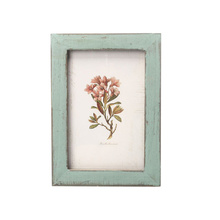 Retro Vintage 6-inch Wooden Photo Picture Frames for Home Shop Store Decoration (Light Blue)