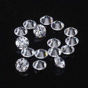 Image 2 - D cor 10 pçs * 0.1ct 3 mm/pacote preço de atacado vvs corte brilhante moissanite para anel pulseira brinco diamante