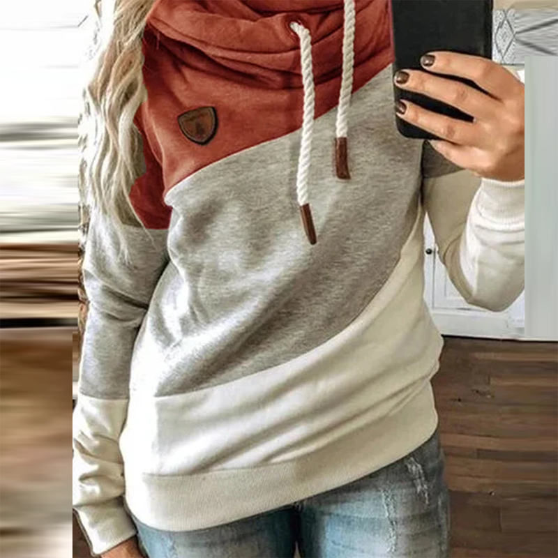 5XL Leopard Patchwork Hooded Sweatshirt Women 2020 Autumn Winter Long Sleeve Hoodies tops Female Drawstring pullovers Harajuku 6