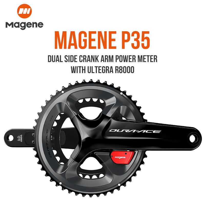 Magene P35 Dural Side Crank Arm Power Meter With Ultegra R8000 SHIMANO Road Bike Power Meter Crankset Chain Wheel Cycling Tool