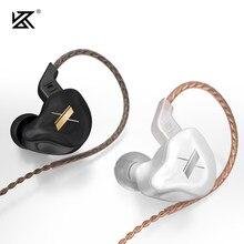 Kz edx metal fone de ouvido 10mm composto unidade de acionamento dinâmico magnético alta fidelidade no ouvido jogo esporte iem zst as10 zs10 zsn pro x zax