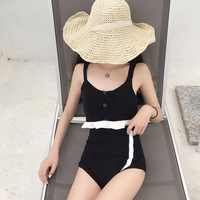 Onepiece Swimsuit Pool Swimming Costume Women Swimsuits For Womens Swim Wear One Piece Sexy Back Exposed Split Knitted Woman