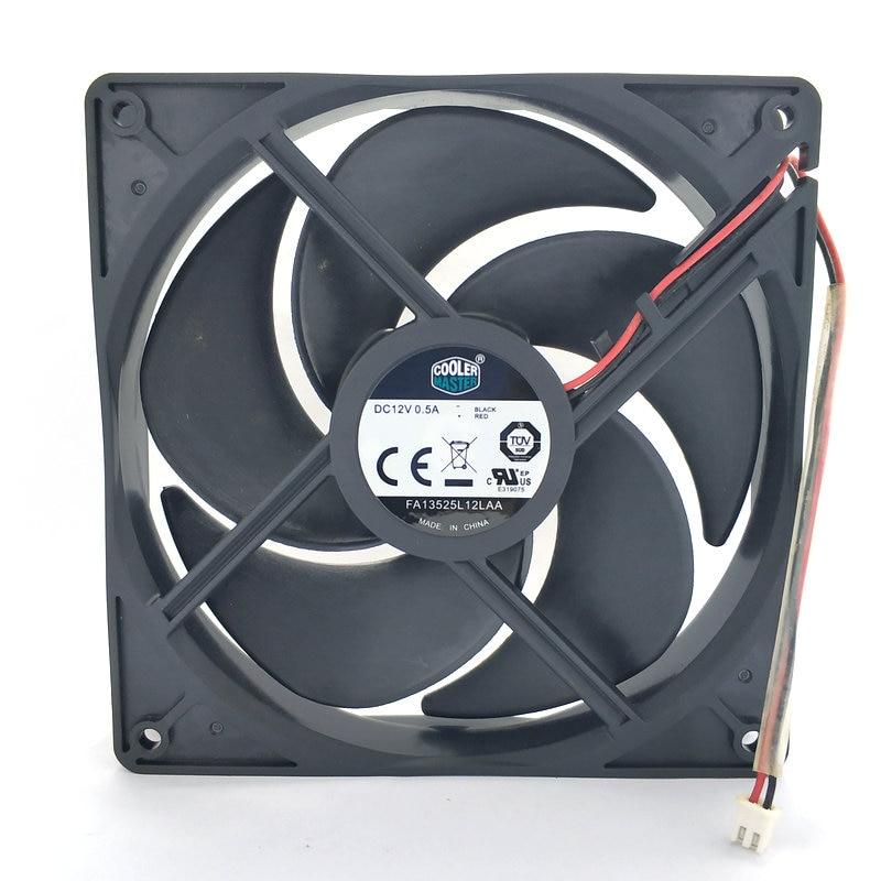 New Original FA13525L12AA DC12V 0.50A 135x135x25MM 2Lines Computer Cooling Fan
