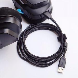 Image 1 - USB マウス修正イヤホンワイヤーロジクール G533 G633 G933 ヘッドホンケーブルの交換充電マウス編組 USB ライン