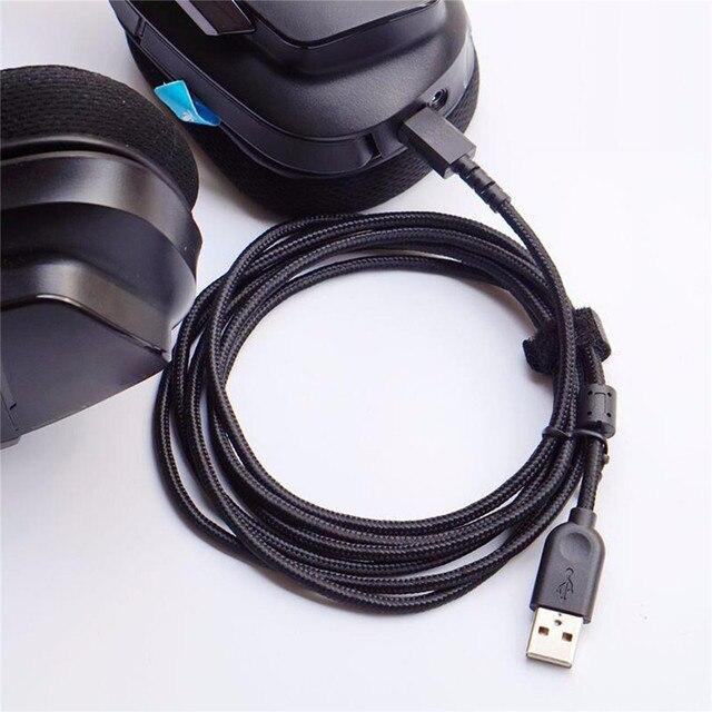 USB マウス修正イヤホンワイヤーロジクール G533 G633 G933 ヘッドホンケーブルの交換充電マウス編組 USB ライン