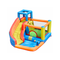 Inflatable Water Slide Park Bouncy Castle Bounce House Jumper Combo for Kids Outdoor Party with Air Blower