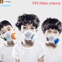 Youpin woobi play f95 máscara facial infantil, respirador seguro para crianças e antifumaça pm2.5 poluição