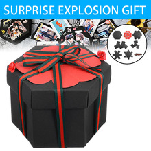 Surprise Handmade Explosion Box Gift Explosion For Anniversary Scrapbook DIY Photo Album Birthday Christmas Gift diy surprise love explosion box gift explosion for anniversary scrapbook diy photo album birthday gift 12x12x12cm