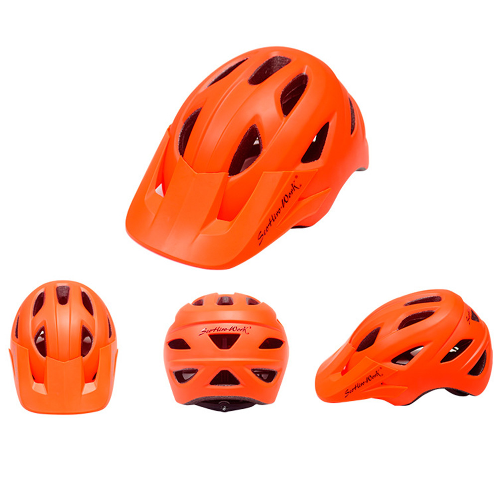 Cycling Helmet With Visor Ultralight MTB Road Bike EPS Helmets Mountain Bicycle Safety Integrally-mold Head Cover Casco BC0081 (4)