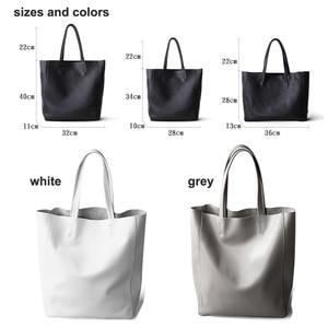 Image 5 - Genuine Leather Bag Women Shoulder Bag Shopping Bag Lady High Capacity Waterproof Parent subsidiary Casual Totes Zipper Handbag