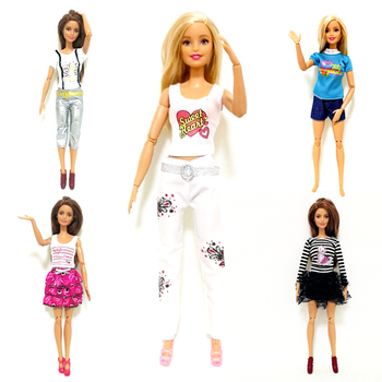 Summer Fashion Dress Outfit Sets for 1:6 30cm BJD FR Doll Clothes Dollhouse Roll Play Accessories cute animal outfit for bjd doll 1 12 pukipuki doll clothes