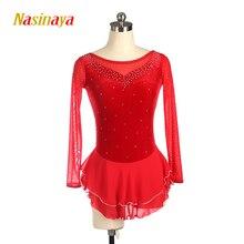 Nasinaya Figure Skating Dress Customized Competition Ice Skirt for Girl Women Kids Gymnastics Performance Velvet