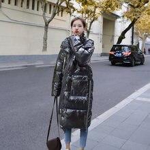 Женская яркая черная пуховая куртка корейская модная трендовая