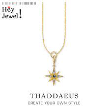 Charm Necklace Royalty Star,2020 Summer New Lucky Golden Fashion Jewelry Europe 925 Sterling Silver Bijoux Gift For Women Men