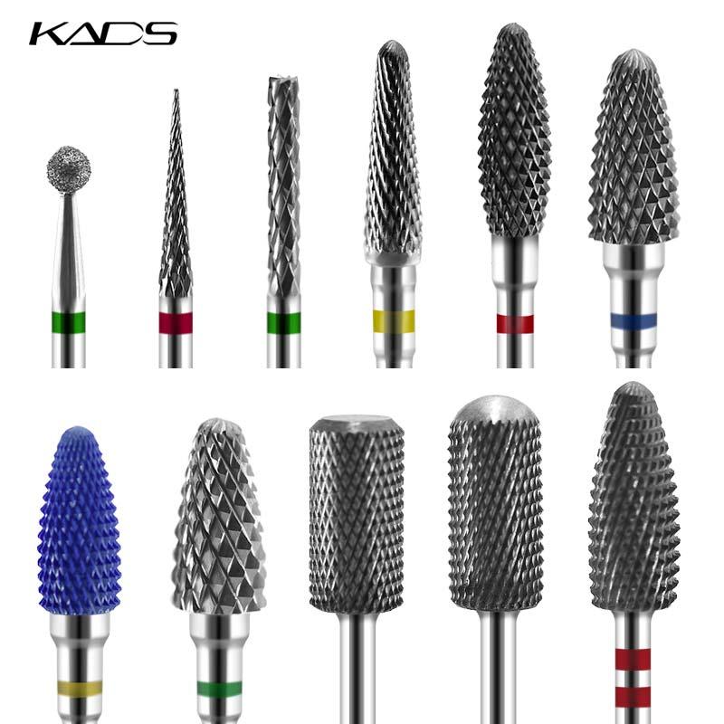 KADS 26 Тип пилка для ногтей электрический ногтей бурильные долото Маникюр машина сплав и керамика Diamond вращающийся Бур фреза сверление ногтей