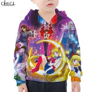 Image 2 - Child Baby Girl Clothes Sailor Moon Galaxy 3D Hoodie Cartoon Printing Daughter Sweatshirt Baby Boy Toddler Sportswear Pullover