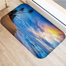 40x60cm Cute Diy Print Floor Mat Bathroom Ground Mat Slip Door Bath Pad Rug Living Room Carpet Beach Scenery