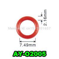 200pieces 7.49*2.16mm fuel injector seals viton o ring for Mazda Engine replacement parts (AY-O2005) CDH275(China)