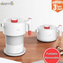 Deerma Opvouwbare Draagbare Elektrische Waterkoker 0.6L Home Reizen Mini Mijia Handheld Elektrische Water Fles Auto Power Off