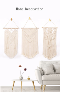 Wall Hanging Handmade Woven Macrame Wall Tapestry Large bohemian Wall Art Decoration for Living Room|Decorative Tapestries|Home & Garden -