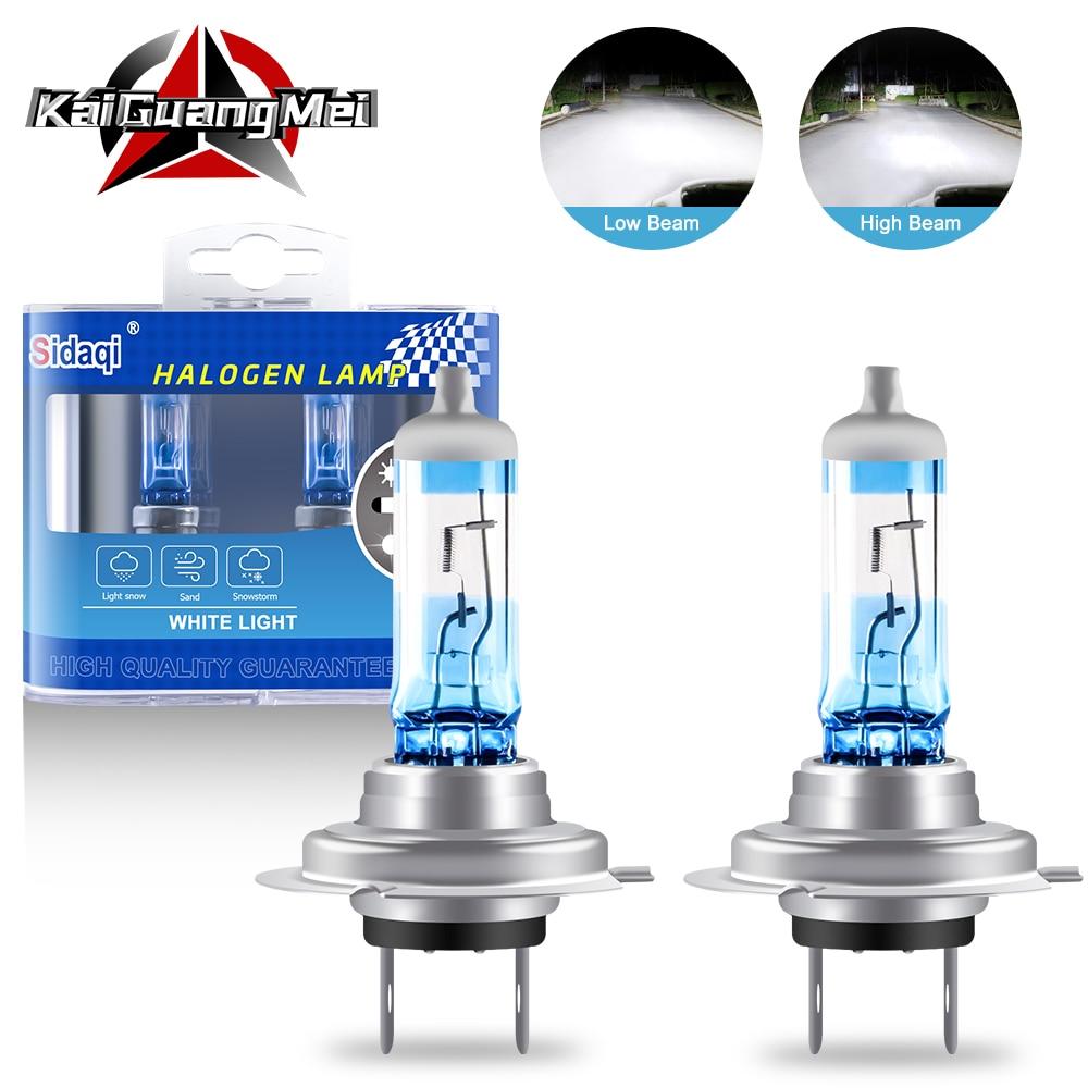 2PCS Halogen Xenon Light Bulbs 55/60W H1 H3 H4 H7 H8 H11 9005 9006 White 5000K 12V Car Headlight Fog