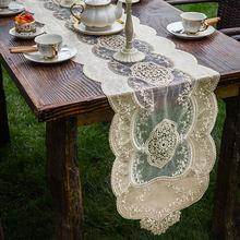 Роскошная бархатная скатерть с вышитыми кружевами для дома и