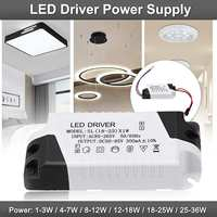 LED Constant Driver 1-3W 4-7W 8-12W 12-18W 18-25W 25-36W Power Supply Light  for LED Downlight Lighting AC85-265V