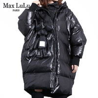 Max LuLu Korean Fashion New Warm Clothing Ladies Vintage Long Parkas Womens Padded Winter Jackets Hooded Puffer Coats Plus Size