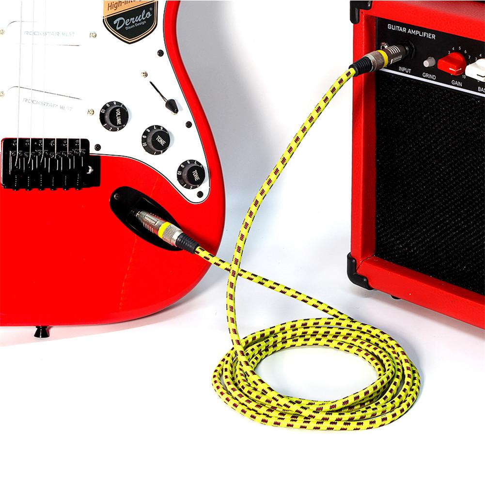 3M/10FT Electric Guitar Bass Lines Connecting The Instrument Guitar Cable Cord 1/4 Inch Straight To Right Angle Plug image