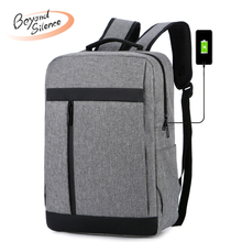 купить Men Waterproof Laptop Backpack Oxford Double Shoulder Bags Business Zipper Backpacks for Male Travel Backpack mochila mujer дешево