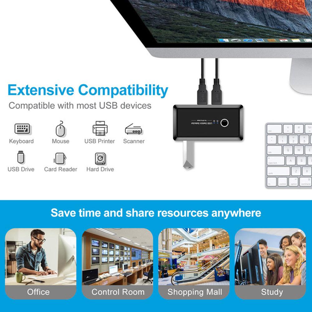2x4 usb 30 коммутатор 2 шт обмен 4 устройства для клавиатуры