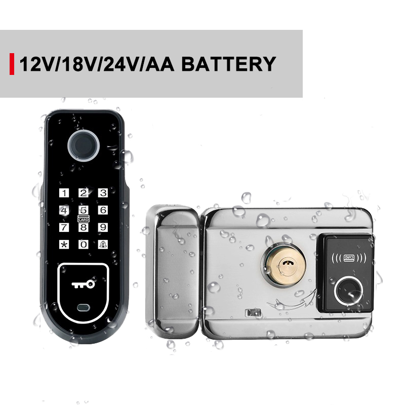 Wireless and Biometric Locks apartment fingerprint lock Easy install Smart Door Lock AA Battery lock