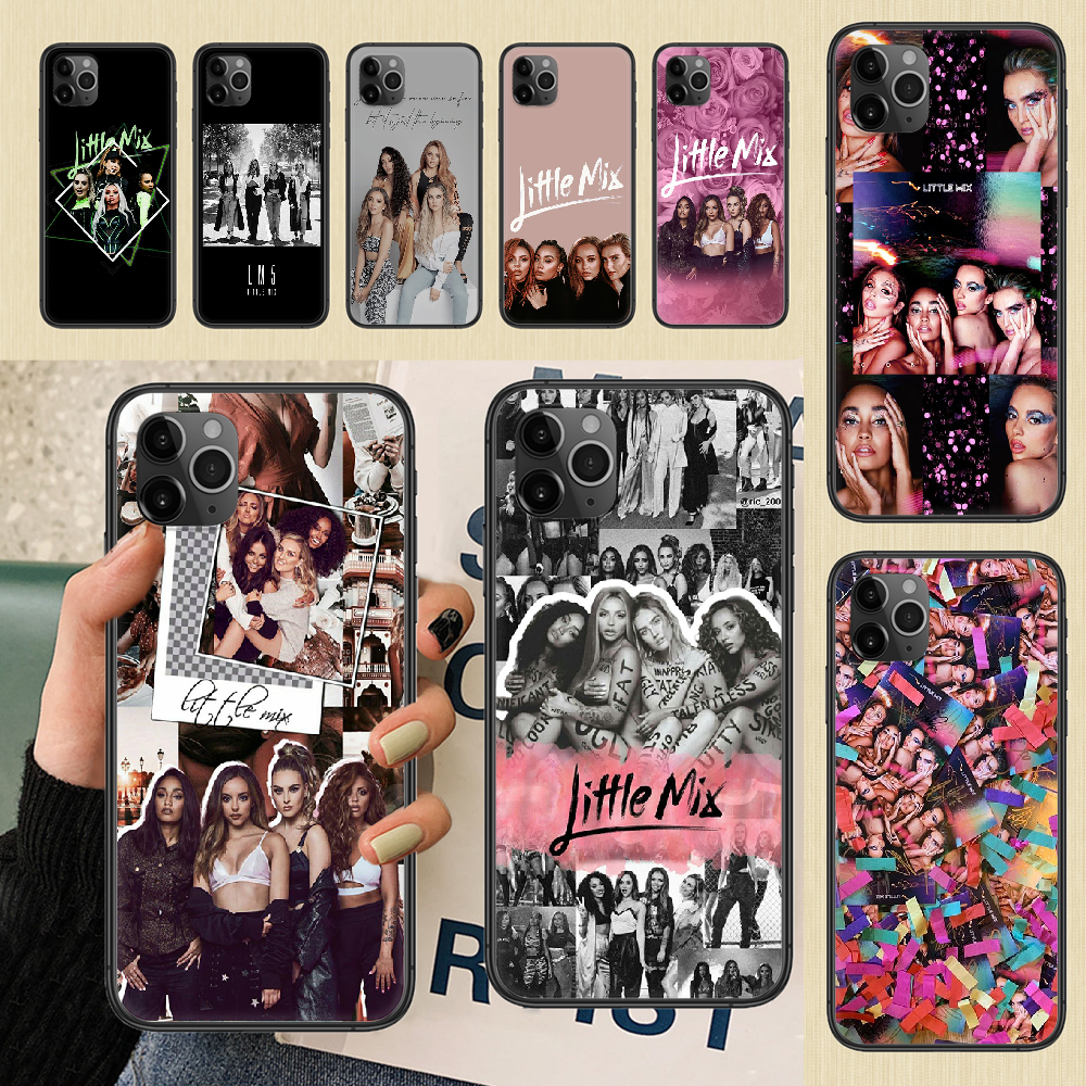 Pop Little Mix Phone Case Cover Hull For iphone 5 5s se 2 6 6s 7 8 12 mini plus X XS XR 11 PRO MAX black trend shell art coque