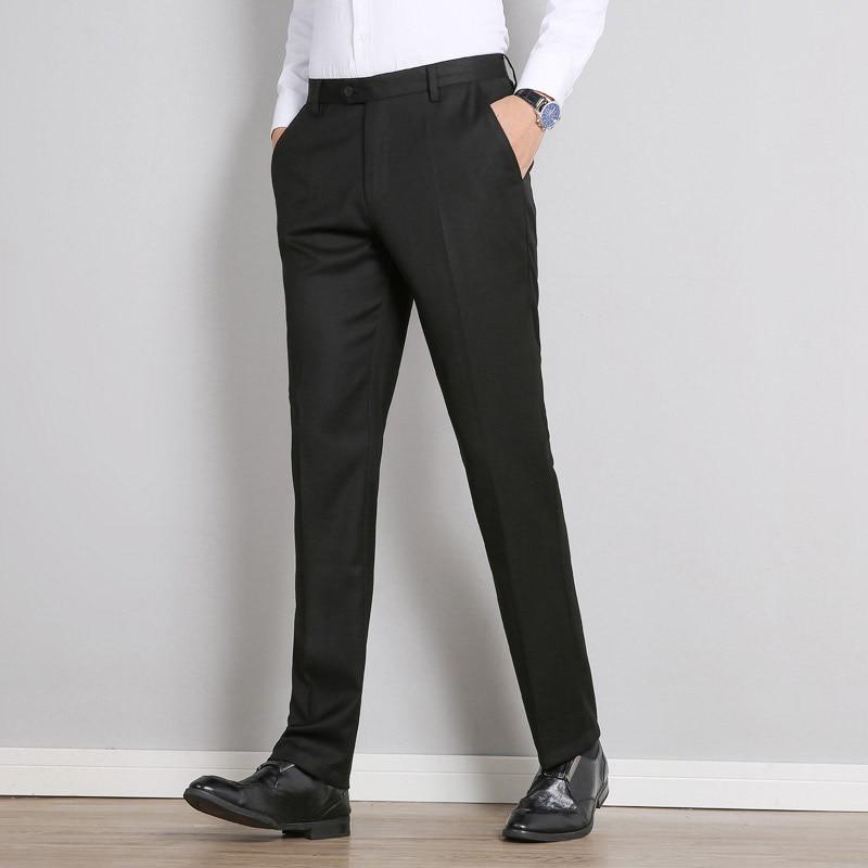 2020 New Classic Men Business Pants Fashion Dress Pants Men Slim Fit Trousers Office Casual Black Formal Pants Men Suit Pants