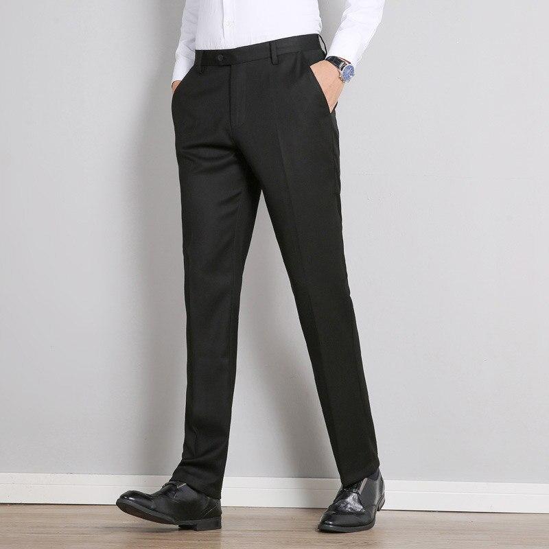 Pantalones De Negocios Clasicos Para Hombre Pantalon De Vestir A La Moda Ajustados Para Oficina Informales Formales Color Negro Novedad De 2020 Pantalones De Traje Aliexpress