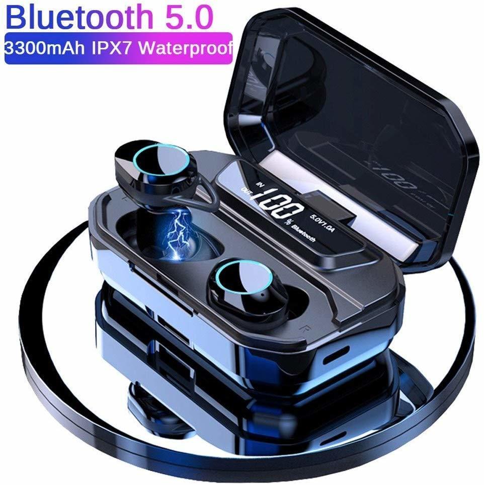 Беспроводные Bluetooth-наушники G02 TWS с шумоподавлением, водонепроницаемые наушники-вкладыши с цифровым дисплеем и сенсорным управлением, Hi-Fi ст...