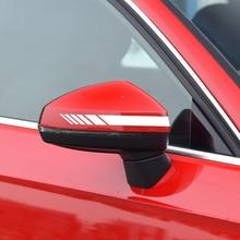 Car Rearview Mirror Sticker Hood Side Body Door Racing Long Stripe Waterproof Decals 5 colors