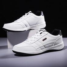 Chaussures de Sport pour hommes, en cuir PU blanches, baskets pour course, pour Jogging, pour course à pied, A 374