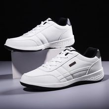 PU Leather Sports Shoes Men Sneakers for Running Shoes Sport Man Athletic Shoes Jogging White Trainers  Footwear Race Walk A 374