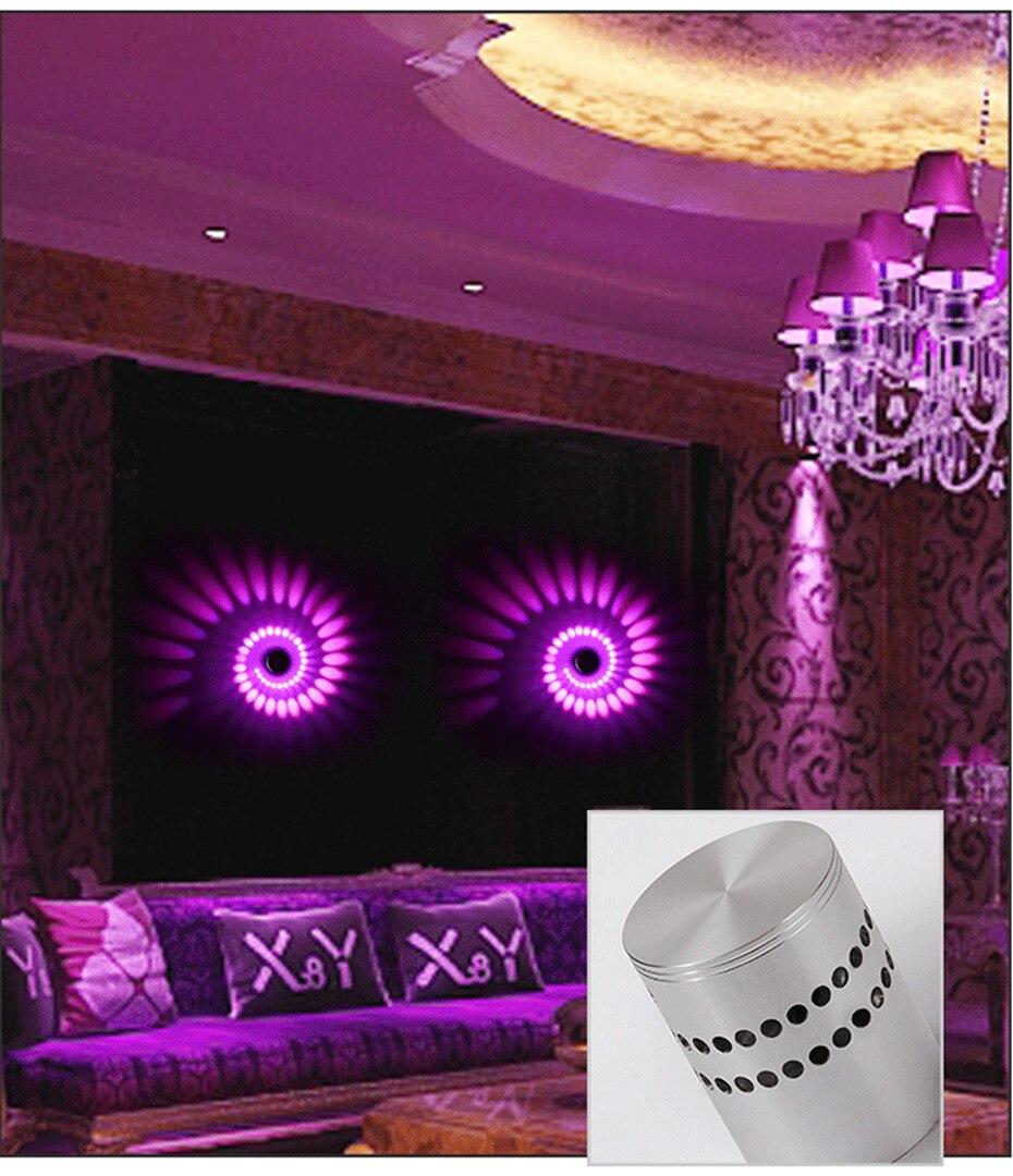 Hc3fbbf662f694395ac8ed84fb9791a9ch Modern LED Ceiling Light 3W RGB Porch Lamp Surface Mount Flush Lighting Fixture Balcony Corridors Living Room Decor