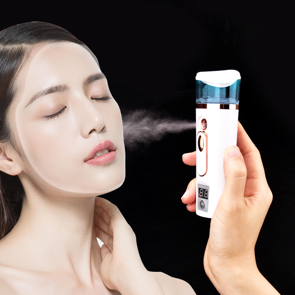 Nano Mist Sprayer Portable Face Spray Bottle Handheld Facial Steamer Ultrasonic Humidifier Moisturizing Beauty Skin Care Device image