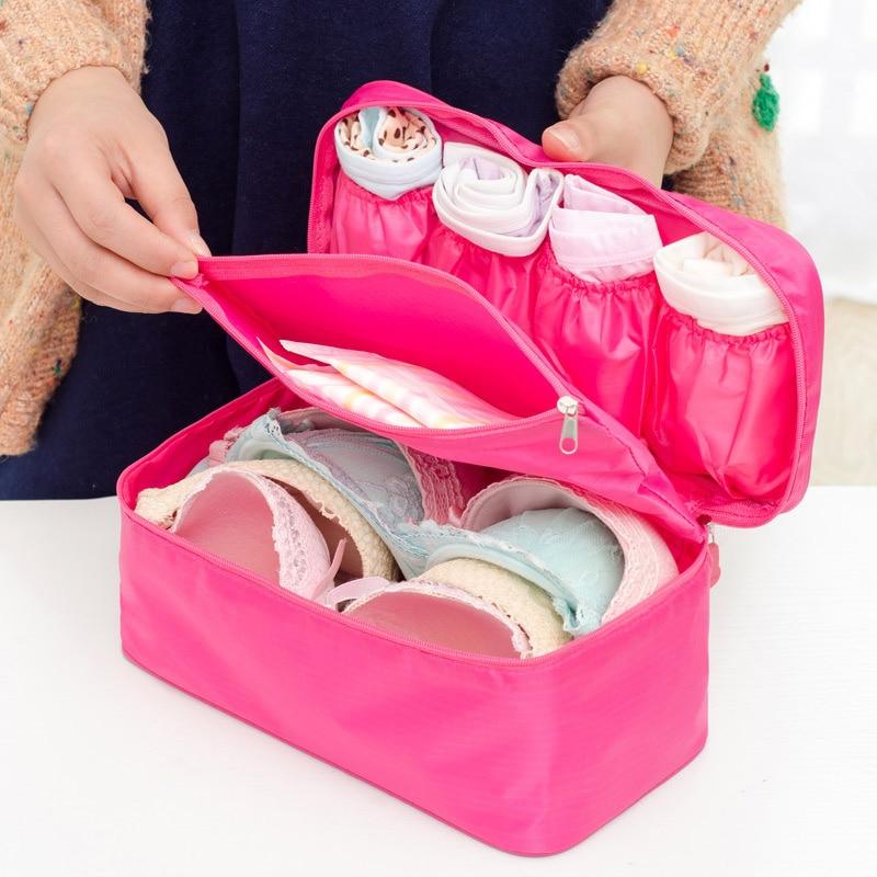 Brand Bra Underwear Women Organizers Travel Bag Waterproof Makeup bag Toiletries Storage