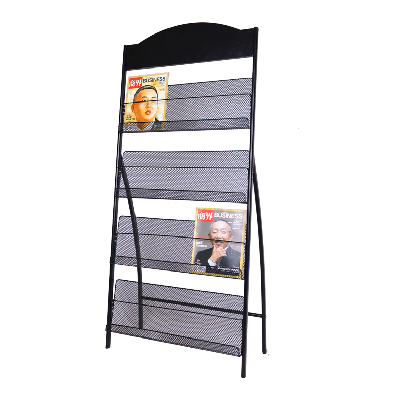 Iron magazine shelf, newspaper shelf, book shelf, newspaper shelf, display shelf, information shelf, propaganda shelf