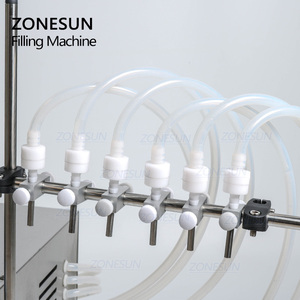 Image 3 - ZONESUN 6 דיזות נוזלי בקבוק בושם מים מיץ חיוני שמן חשמלי בקרה דיגיטלית משאבת נוזל מכונת מילוי אספקת