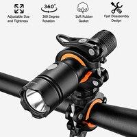 Taschenlampe Halterung Universal Fahrrad Fahrrad LED Licht Taschenlampe Halterung Halter 360 ° Rotation Radfahren Clip Clamp-in Sattelklemmen aus Sport und Unterhaltung bei