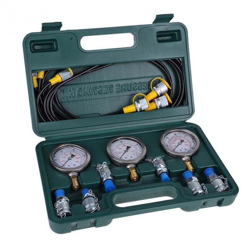 HHO-Kit d'essai de pression hydraulique d'excavatrice de jauge de pression hydraulique avec le couplage de tuyau d'essai et les outils de jauge