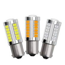 2pcs 1156 S25 5630 33 LED Car Light Tail Bulb Brake Lights 12V Auto Reverse Lamp Daytime Running Signal Light for Car Repair цена 2017